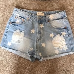 Denim shorts with ⭐️⭐️